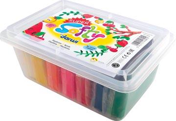 Darwi boetseerpasta Super Softy 150 g, emmertje van 10 stuks in geassorteerde kleuren
