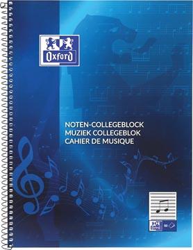 Oxford muziek collegeblok ft A4, 100 bladzijden