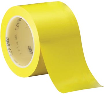 3M Vinyl tape 471, ft 50 mm x 33 m, geel