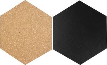 Securit Hexagon set van drie kurkborden, vier krijtborden en accessoires
