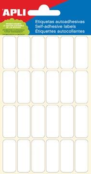 Apli witte etiketten ft 12 x 30 mm (b x h), 144 stuks, 24 per blad (2671)