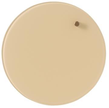 Naga Nord magnetisch rond glasbord, diameter 25 cm, creme