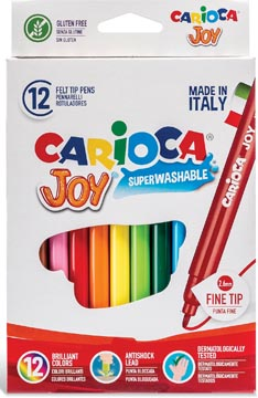 Carioca viltstift Superwashable Joy, 12 stiften in een kartonnen etui