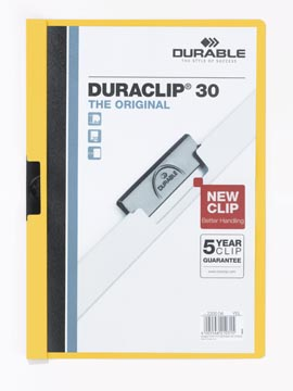 Durable klemmap Duraclip Original 30 geel