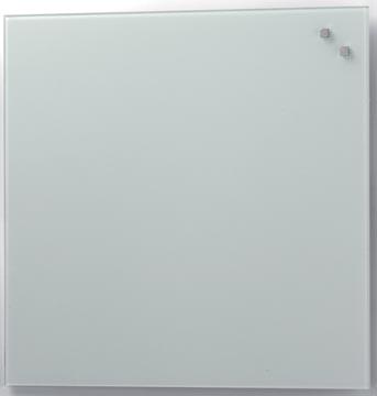 Naga magnetisch glasbord, wit, ft 45 x 45 cm
