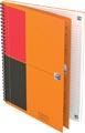 Oxford INTERNATIONAL notebook connect, stevige kartonnen kaft oranje, 160 bladzijden, ft B5, gelijnd